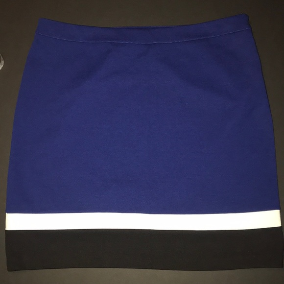 Rafaella Dresses & Skirts - Rafaela color block poly spandex skirt.